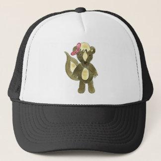Little Stinker Skunk Pink Bow Trucker Hat