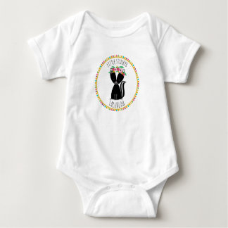 Little Stinker Skunk Pompom Inspired Baby Bodysuit