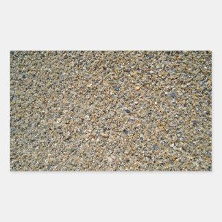 Little stones texture rectangular sticker