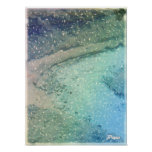 Little Stream Digital Art Abstract Photo Blue Snow Posters