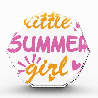 Little summer girl cool design acrylic award