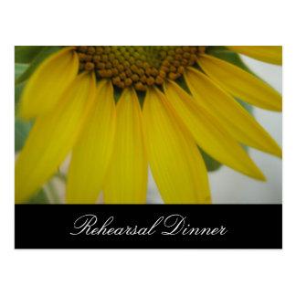 Little Sunflower Wedding Postcard