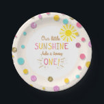 "Little sunhine Paper Plates Birthday Girl Pink<br><div class=""desc"">♥ A perfect addition to your party! Little sunhine birthday theme.</div>"