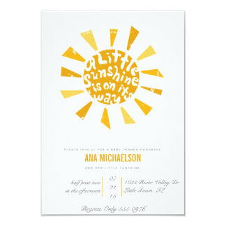 Little Sunshine Baby Shower 3.5x5 Paper Invitation Card