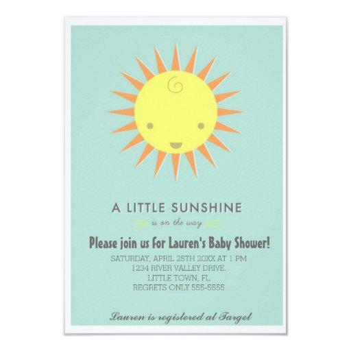 little sunshine baby shower card zazzle