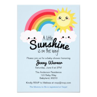 Little Sunshine Baby Shower invitation