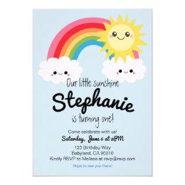 Little Sunshine Birthday invitation