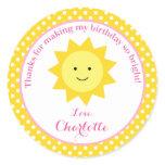 pink sunshine birthday, pink and yellow sunshine