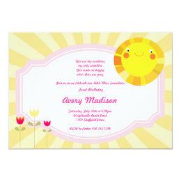 Little Sunshine Summer Spring Baby Shower birthday Card