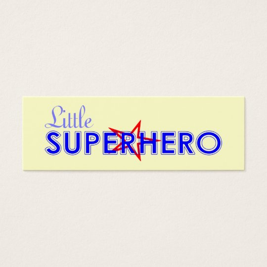 Little Superhero Bookmark Mini Business Card