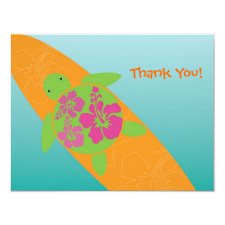 Little Surf Rider Honu Flat Thank You Card