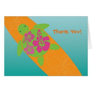 Little Surf Rider Honu Thank You Card