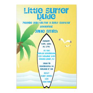 Little Surfer Dude Baby Shower Invite