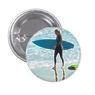 Little Surfer Girl Button