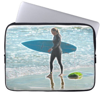 Little Surfer Girl Electronics Bag Laptop Computer Sleeve