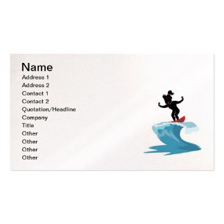 LITTLE SURFER GIRL SURFING SURF WAVES OCEAN FUN BUSINESS CARD