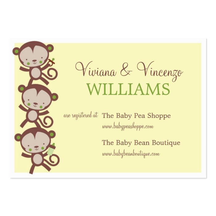 little surprise baby shower registry cards zazzle