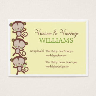 little surprise baby shower registry cards