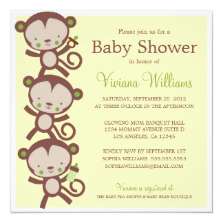 LITTLE SURPRISE MONKEYS | BABY SHOWER INVITATION
