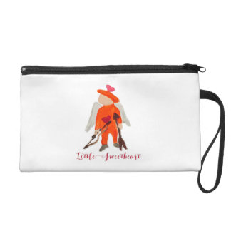 Little Sweetheart Valentine Water Colored Toddler Wristlet Clutches