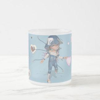 Little Sweetie - Cup blue JEANS CLASSIC 2 Taza De Café Esmerilada