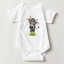 Little swiss cow baby bodysuit