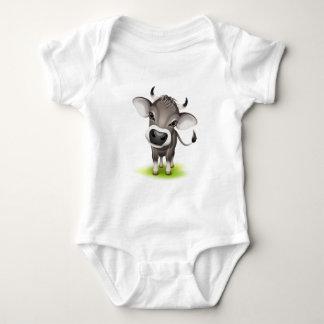 Little swiss cow baby bodysuit