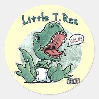 Little T. Rex by Mudge Studios Classic Round Sticker
