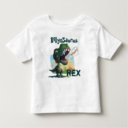 Little T Rex Painted Toddler T_shirt