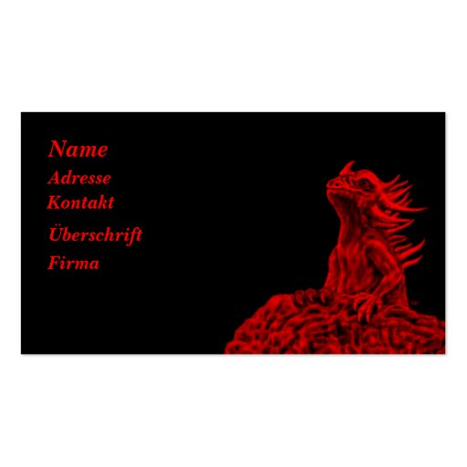 Little talk Dragon Double-Sided Standard Business Cards (Pack Of 100)