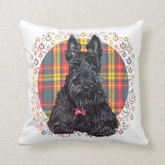 Little Tartan Scottie Dog Throw Pillow