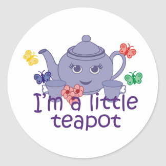Little Teapot Round Stickers