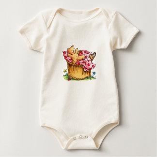 Little Teddybear in Basket - Kid's T-shirt