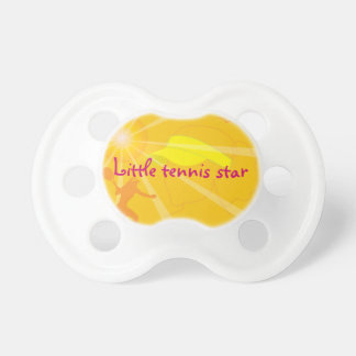 Little tennis star baby pacifier / soother / dummy