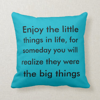 Little things, big things throw pillow