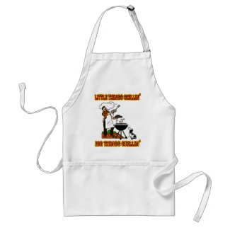 LITTLE THINGS CHILLIN' BIG THINGS GRILLIN' apron