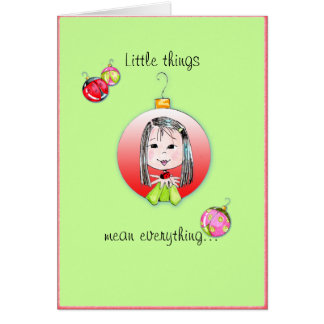 Little Things Christmas card - 3rd option