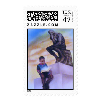 """Little Thinker"" Postage Stamp"