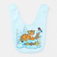 little tiger cub baby bib