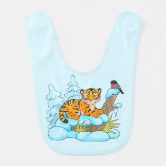 little tiger cub baby bib