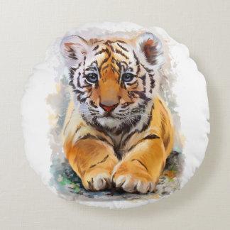 Little tiger round pillow