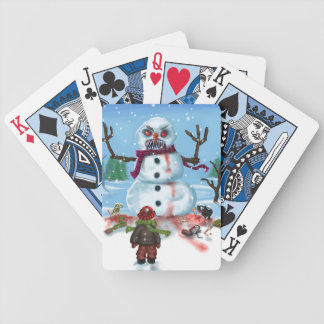 Little Timothys LAST Snowman Bicycle Playing Cards