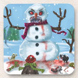 Little Timothys LAST Snowman Cork Coaster