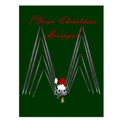 Little, Tiny Christmas Spider Postcard