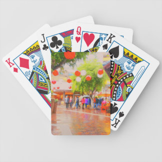 Little Tokyo Japanese village Painting Bicycle Playing Cards