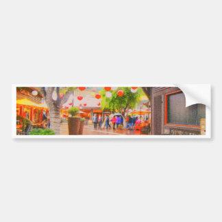 Little Tokyo Japanese village Painting Bumper Sticker