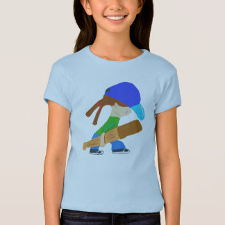 Little Tomboy Off To The Game T-Shirt