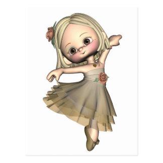 Little Toon Ballerina Postcard