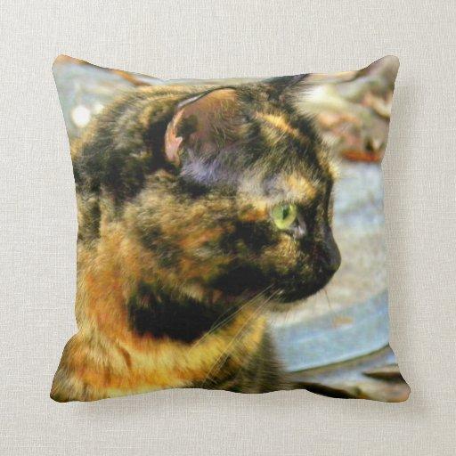 Little Tortie Cat Mojo Pillow