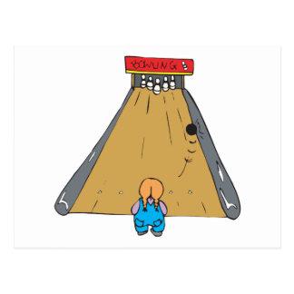 little tot bowling gutter ball postcard